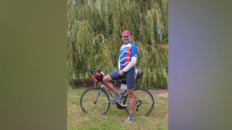 Lieutenant General Anil Puri has become the first serving Lieutenant General-rank officer of the Indian Army to complete France's oldest cycling event, 1,200-km Paris-Brest-Paris circuit. (Photo: ANI)