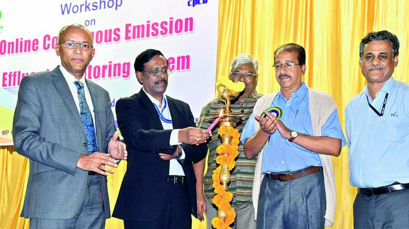 Member secretary of CPCB, A. Sudhakar inaugurates a workshop in Vizag on Thursday. (Photo: DC)
