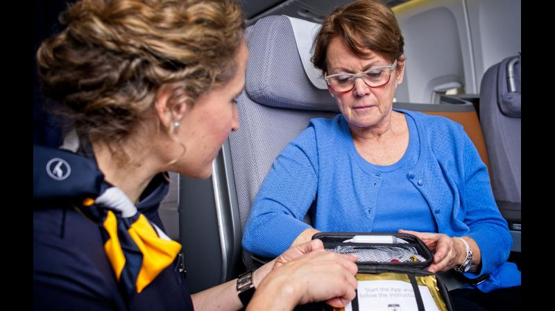 Mobile ECG system will improve medical care for emergencies on all long-haul Lufthansa flights.