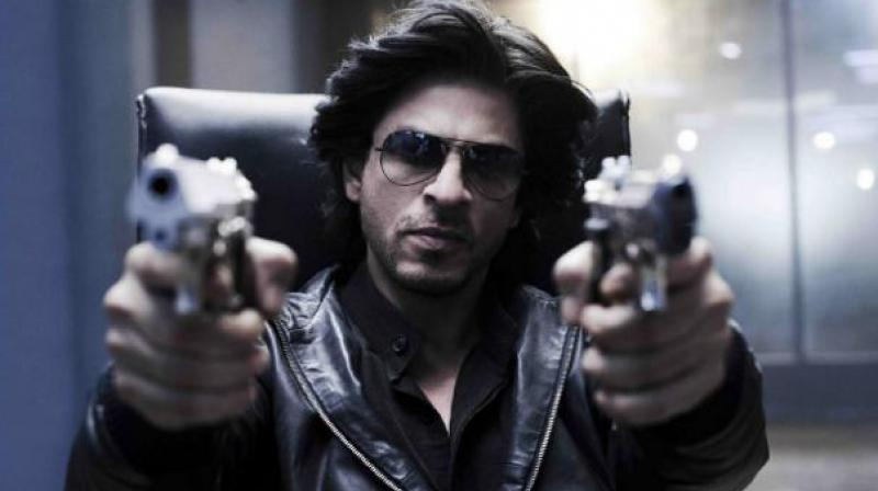 Shah Rukh Khan in and as Don in 'Don' movie.