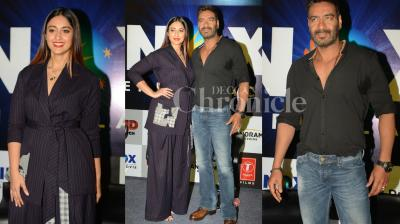 Bollywood star Ajay Devgn is currently busy promoting his upcoming thriller 'Raid'. Check out some interesting pictures from the recent press meet event. (Photos: Viral Bhayan)