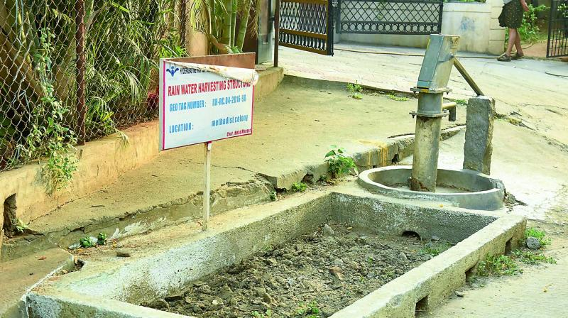 The Water Board has no significant plans and no budgetary allocation to build rain water harvesting pits this year.