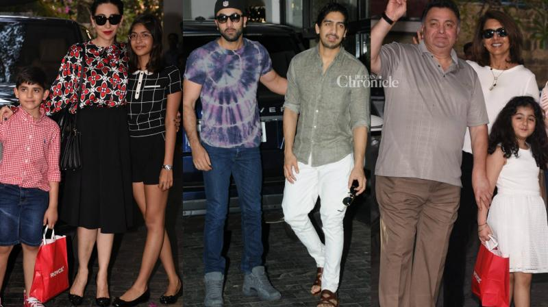 Several celebrtities from the Kapoor family were seen arriving for their annual Christmas brunch on Sunday. (Photo: Viral Bhayani)