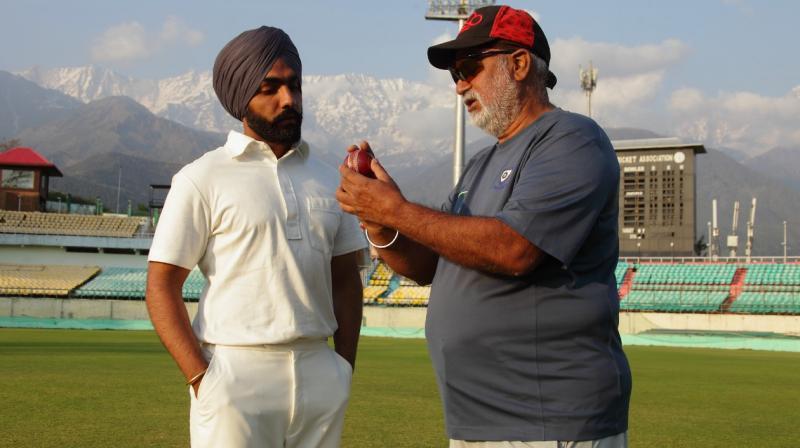 '83 star Ammy Virk with Balwinder Singh Sandhu. (Photo: Instagram)