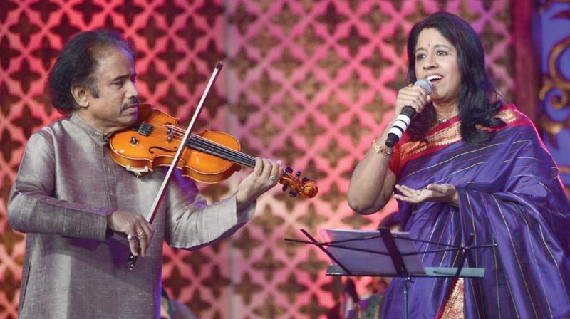 Dr L Subramaniam and Kavita Krishnamurti perform at a previous edition of the Festival