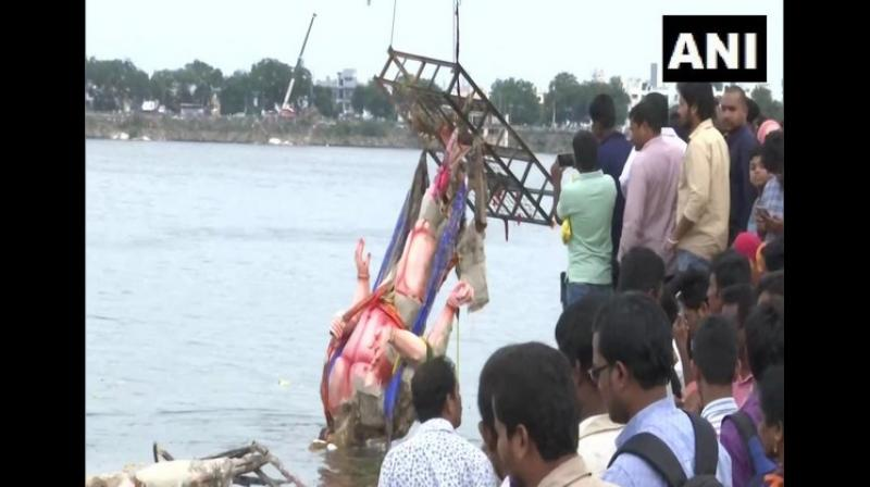Hyderabad administration starts cleaning lakes post Ganesh immersion