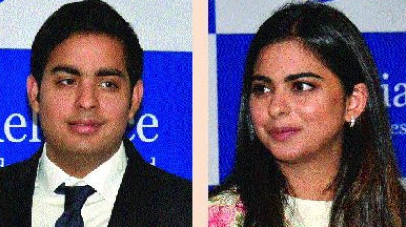 Akash Ambani and Isha Ambani