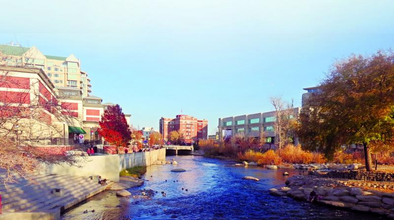 Reno in Nevada has managed to shed its tag of 'poor man's Vegas' and is home to quirky street-art, museums and hedonistic bars,  on the banks of Truckee river.