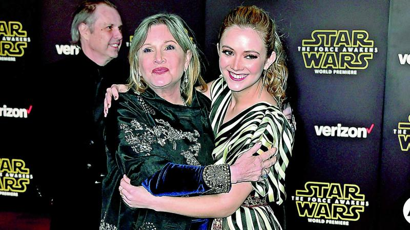 Billie Lourd is marking the one-year anniversary of her mother Carrie Fisher's death. (Photo: DC)