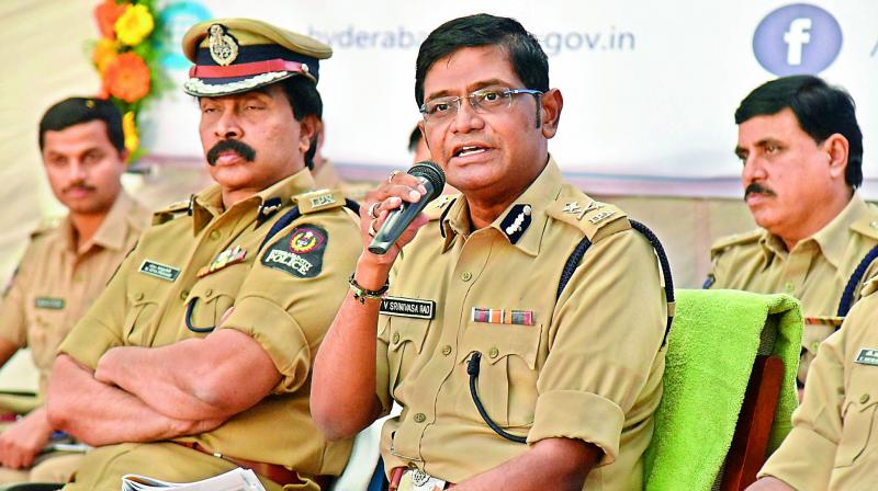 """Murders, rapes, robberies and burglaries have seen almost a 50 per cent drop since the last two years,"""" said Srinivasa Rao.(Photo: DC)"""
