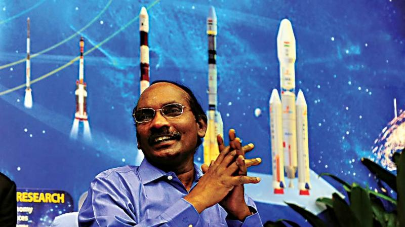 Isro chairman Kailasavadivoo Sivan addressing a press conference in Bengaluru on Friday (Photo: KPN)
