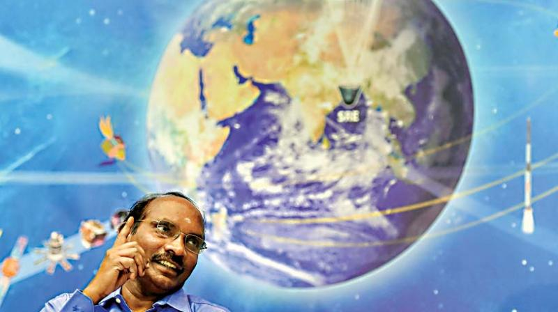 ISRO Chairman Dr K. Sivanaddresses a press conference in Bengaluru on Friday (Photo:PTI)