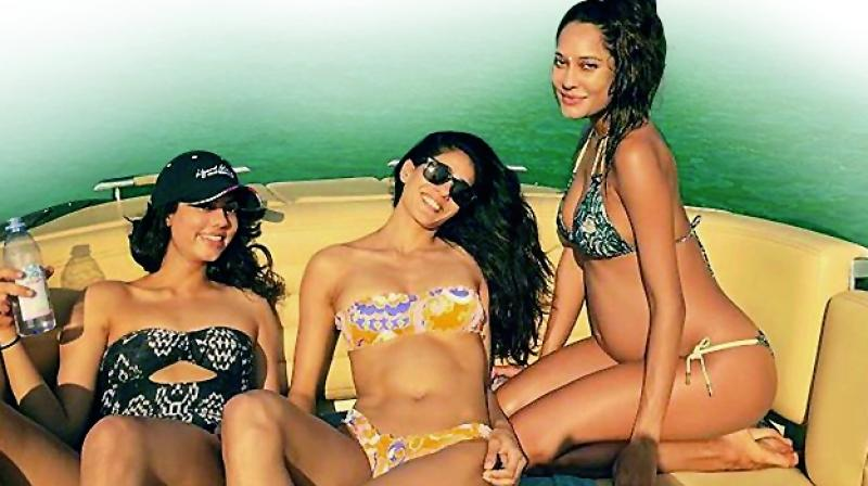 Celebration of new life: Soon-to-be mom Lisa Haydon vacationed with her girl gang and husband Dino Lalvani on her maternity break.