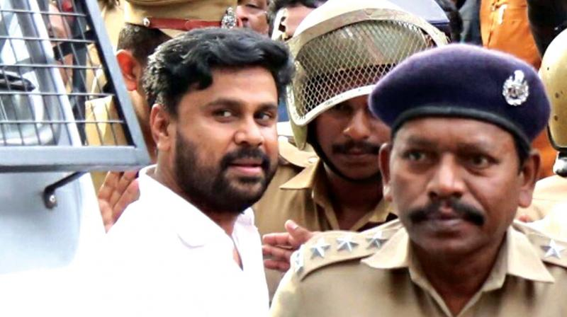 Dileep being taken back to Aluva sub jail after Angamaly judicial first class magistrate court rejected his bail plea on Saturday. 	(Photo: DC)