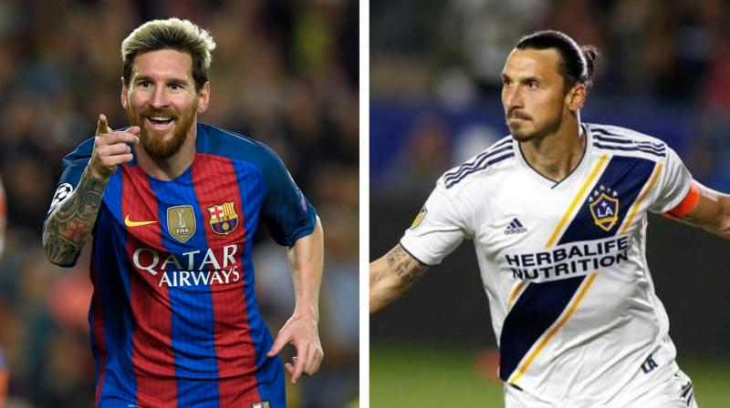 Lionel Messi and Zlatan Ibrahimovic are the star names on the 10-player short-list announced on Monday by FIFA for its Puskas award for goal of the year. (Photo: AFP)