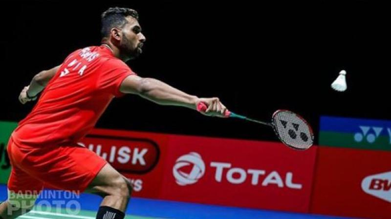 HS Prannoy defeated China's Huang Yu Xiang in straight games 21-17, 21-17 in the first round match. (Photo: BAI Media)