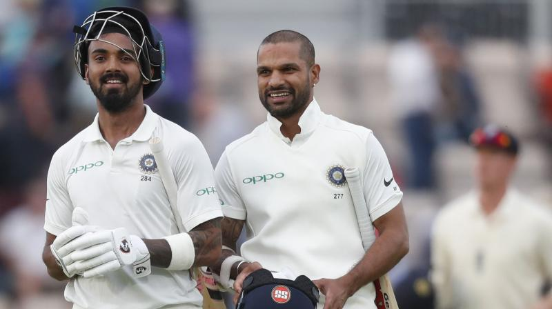 Indias Kl Rahul And Shikhar Dhawan Are All Smiles As They Walk Back To The Dressing