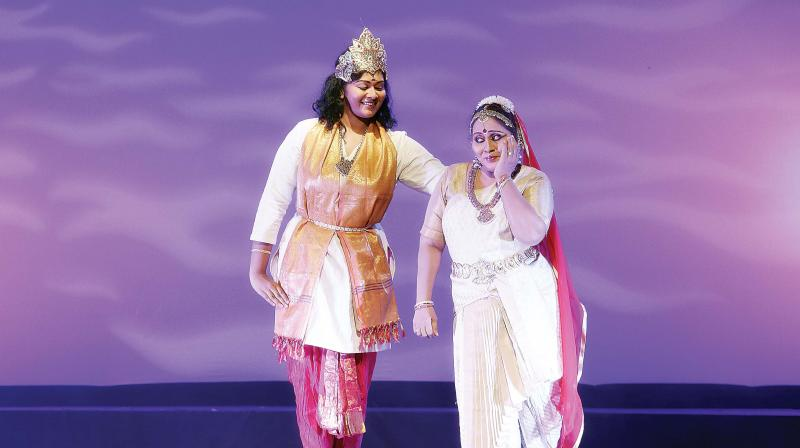 Parvathi Ravi Ghantasala during her  performance. (Photo: DC)