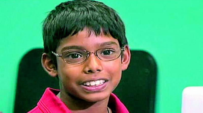 Reuben Paul, 6, plugged into his laptop a rogue device 'raspberry pi' to download dozens of numbers.