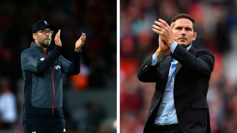 Liverpool have just ended a seven-year trophy drought and Frank Lampard is eager to kickstart his Chelsea managerial career. (Photo: AP/AFP)