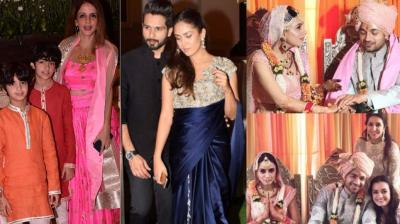 TV actors Gautam Gupta and Smriti Khanna got married in Mumbai on Thursday, with several celebrities turning up for the celebrations. (Photo: Viral Bhayani/Instagram)