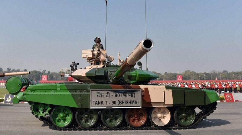 The Russian-origin T-90 tanks are mainstays of the Indian Army's offensive formations. (Photo: PTI/File)