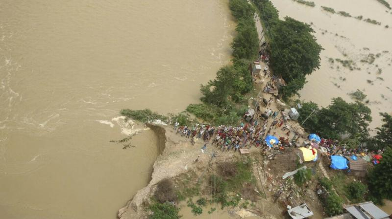 Reports reaching Lucknow said Army choppers, NDRF and PAC (flood) jawans continued relief and rescue operations in the badly hit areas. (Photo: PTI)
