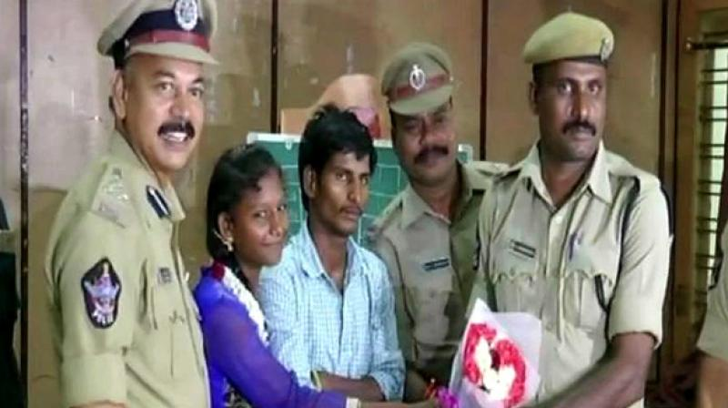 Tirupatamma reportedly had immediately jumped into the Ryves Canal at Dharna Chowk and saved the woman from drowning. (Photo: ANI/Twitter)