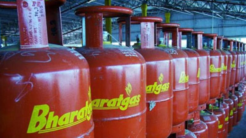 Bharat Petroleum Corporation or BPCL produces Bharatgas LPG cylinders. (Photo: PTI)