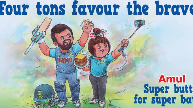 India are currently placed at the second position in the tournament standings with 13 points from eight matches. (Photo: Amul.coop/Twitter)