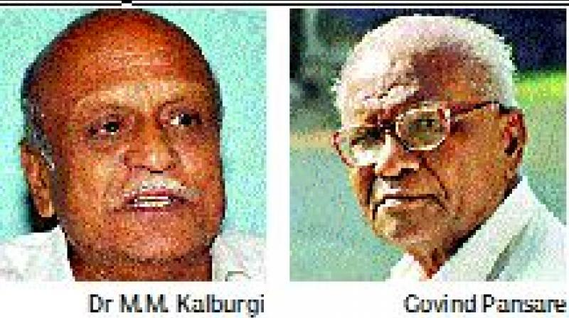Dr Kalburgi and Govind Pansare