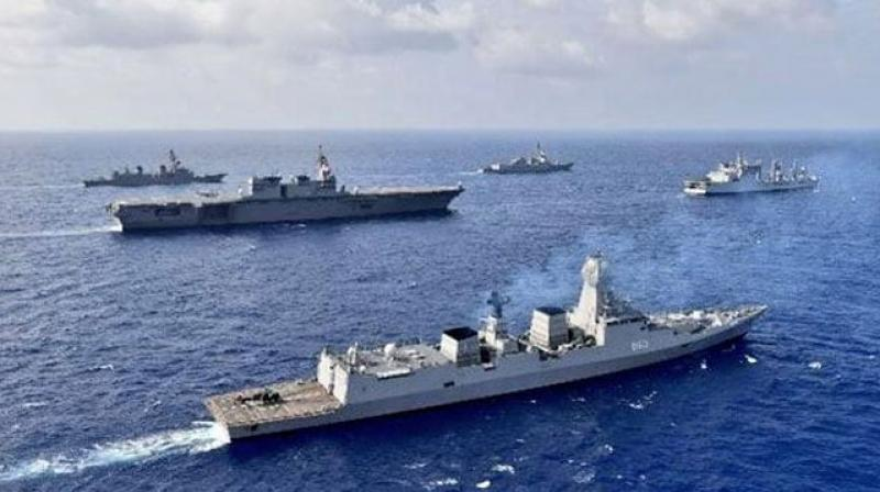 At any point of time, the Chinese Navy deploys around six to seven warships in the region in the name of carrying out anti-piracy drills in the Gulf of Aden. (Photo: Representational image)
