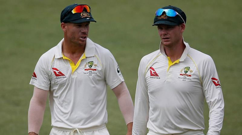 Former Test captain Smith and his vice-captain Warner were handed the bans from international and state cricket after the ball-tampering scandal that rocked Australian Cricket in March this year. Former Test captain Smith and his vice-captain Warner were handed the bans from international and state cricket after the ball-tampering scandal that rocked Australian Cricket in March this year.(Photo: AP)
