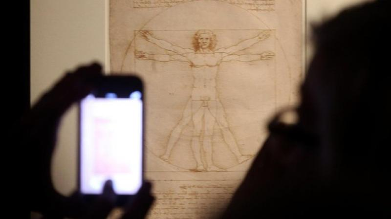 The drawing was made by Leonardo da Vinci around 1490. (Photo: AP)
