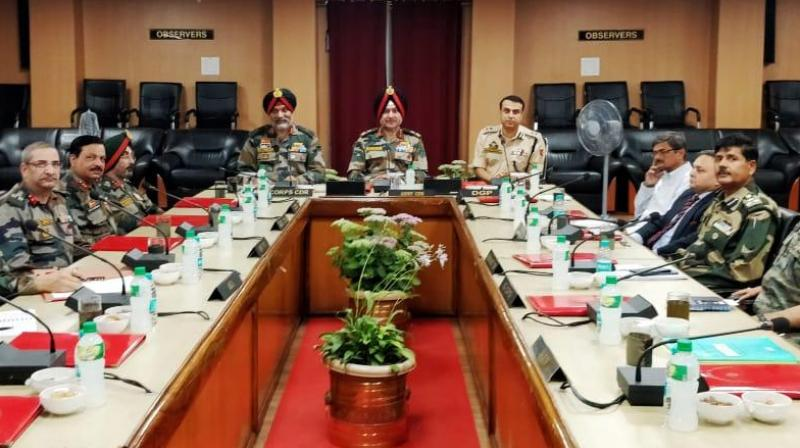 General Officer Commanding-in-Chief, Northern Command, Lt Gen Ranbir Singh chaired the meeting that was attended by senior Army, police and paramilitary officers and intelligence officers, it said. (Photo: ANI)