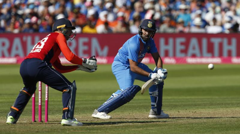 Rohit stitched a game-changing 91-run partnership with Virat Kohli to put the visitors in control. (Photo: AFP)