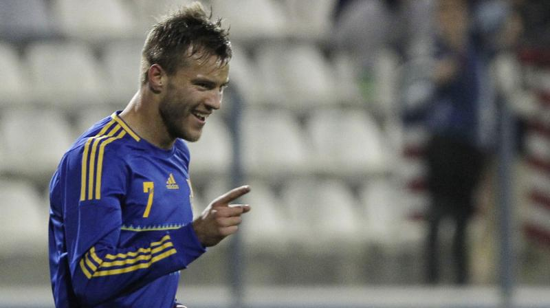 He is the second highest goalscorer for the Ukranian national team after Andriy Shevchenko. (Photo: AP)