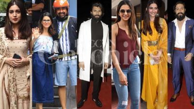 'Dear Comrade' star Vijay Deverakonda, Rakul Preet Singh, Bhumi Pednekar, 'KGF' star Yash, Sunny Leone-Rannvijay Singh, Sonam Kapoor and Arjun Kapoor spotted. (Pictures: Viral Bhayani)