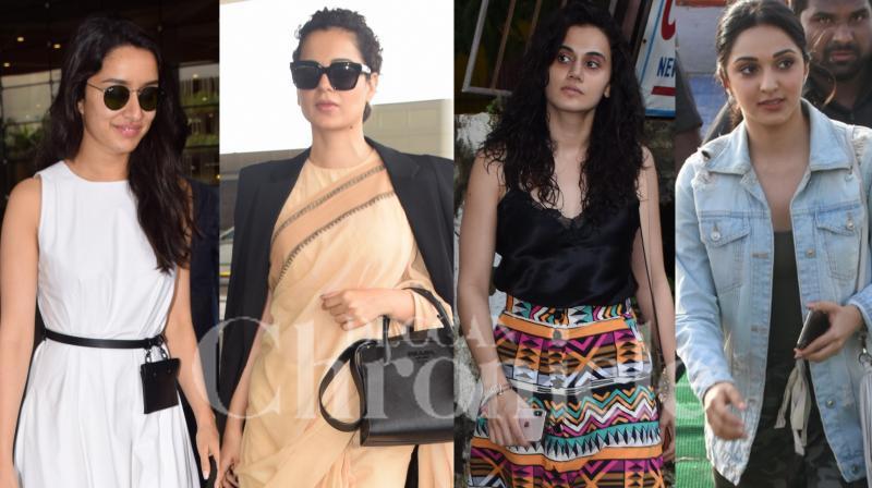 Bollywood stars Akshay Kumar, Kangana Ranaut, Kiara Advani, Taapsee Pannu, Shraddha Kapoor and others were spotted in the city. (Photos by Viral Bhayani)