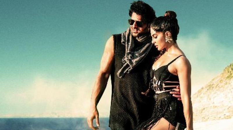 Jacqueline Fernandez and Prabhas in the song.