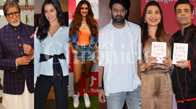 Bollywood stars Amitabh Bachchan, Shraddha Kapoor, Prabhas, Disha Patani, Karan Johar and others were spotted in the city. (Pictures: Viral Bhayani)
