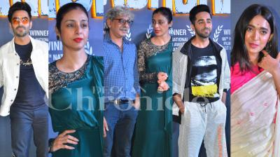 Director Sriram Raghavan's AndhaDhun won two National Awards for the Best Hindi Film and the Best Actor. The team recently held a success bash for the film in Mumbai. Check out the latest and exclusive photos from the event here. (Pictures: Viral Bhayani)
