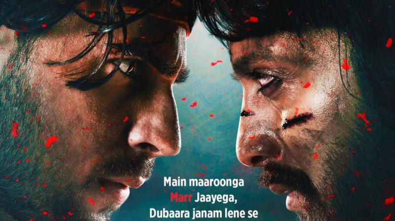 Sidharth Malhotra, Riteish Deshmukh in the poster of 'Marjaavaan'.