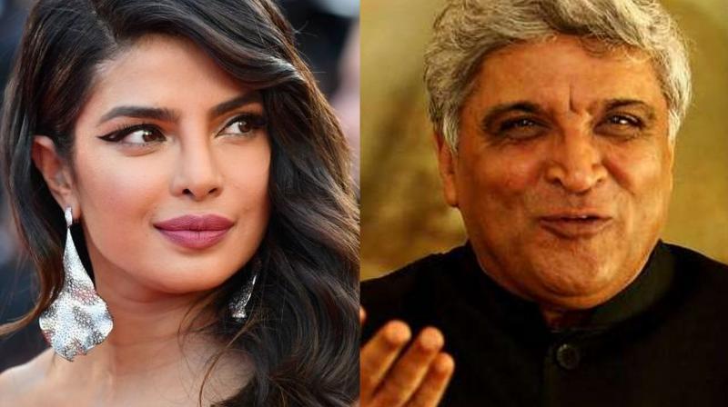 Priyanka Chopra and Javed Akhtar.