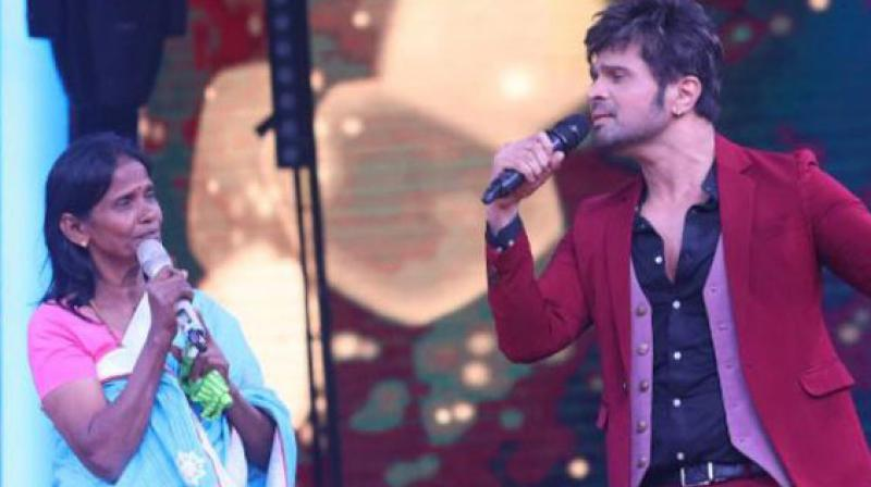 Himesh Reshammiya records song with internet sensation Ranu Mandal