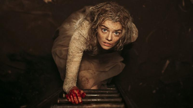 Samara Weaving in the still from 'Ready or Not'.