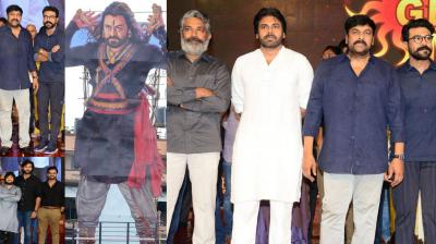Thousands of fans came together to witness the grandeur of Sye Raa Narasimha Reddy pre-release event. The grand scale pre-release that took place at Hyderabad in the presence of the megastar Dr. Chiranjeevi, Ram Charan, Pawan Kalyan, and director of the film Surender Reddy.