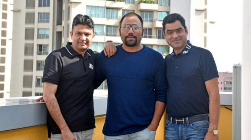 Sandeep Reddy Vanga with his team.