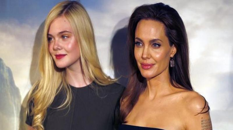 Angelina Jolie and Elle Fanning.