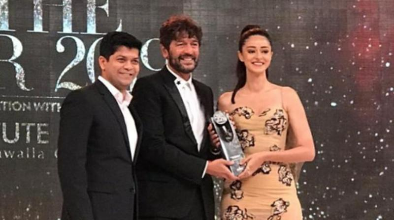 Ananya Panday shines brighter than ever as the actress bagged the title of 'Youth Influencer of the year' for her 'So Positive' initiative.